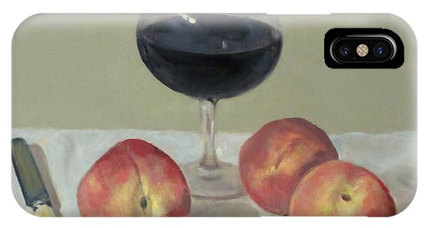 Three Peaches, Wine And Knife IPhone Case