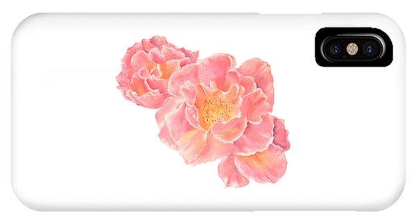 Three Pink Roses IPhone Case