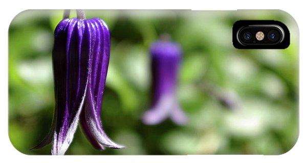 Three Purple Flowers- Leech Botanical Garden IPhone Case