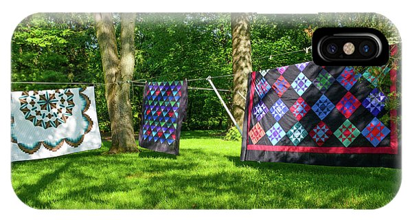 Three Quilts In The Breeze IPhone Case
