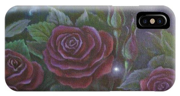 Three Red Roses IPhone Case