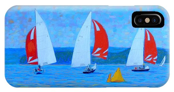 Three Red Sails  IPhone Case