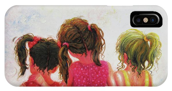 Blond iPhone Case - Three Sisters Brunette, Redhead, Blonde by Vickie Wade