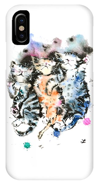 Three Sleeping Kittens IPhone Case