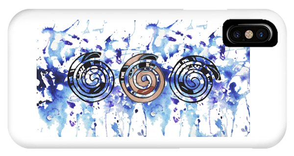 Three Spirals IPhone Case