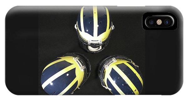 Three Striped Wolverine Helmets IPhone Case