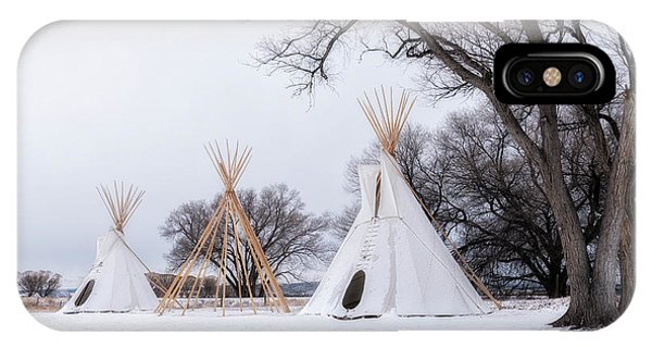 Three Tipis IPhone Case