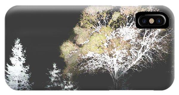 Three Trees In The Dark IPhone Case