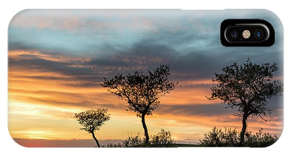 IPhone Case featuring the photograph Three Trees On A Hill by Denise Bush
