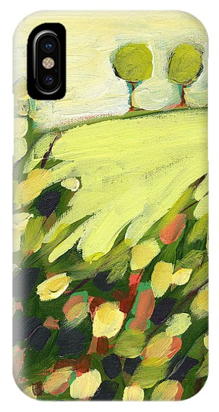 Abstract Landscape iPhone Case - Three Trees On A Hill by Jennifer Lommers