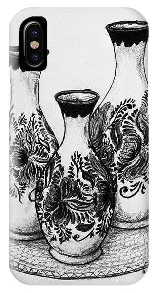 iPhone Case - Three Vases by Rich Travis