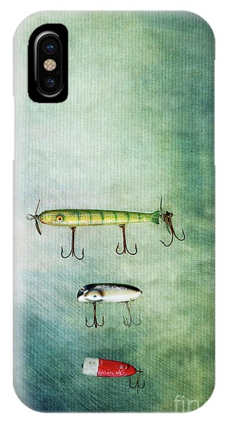 Three Vintage Fishing Lures IPhone Case