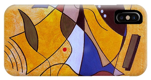 Abstract iPhone Case - Three White Petals by Ruth Palmer