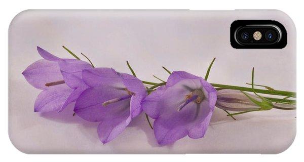 Three Wild Campanella Blossoms - Macro IPhone Case