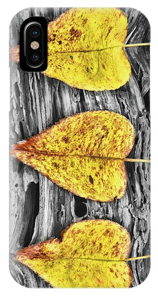 Three Yellow Leaves IPhone Case