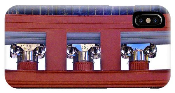 Threereflective Columns IPhone Case