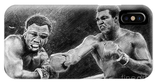 Thrilla In Manilla Pencil Drawing IPhone Case