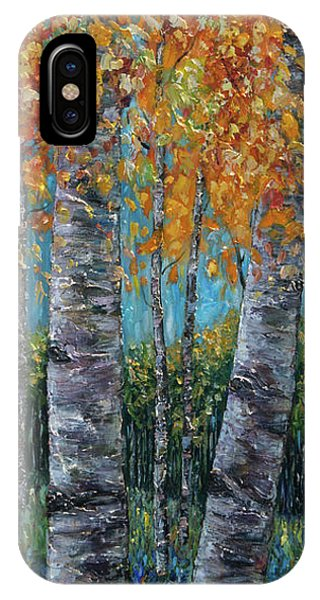 Through The Aspen Trees Diptych 1 IPhone Case