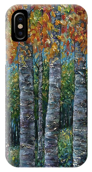 Through The Aspen Trees Diptych 2 IPhone Case
