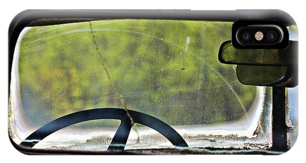 Through The Back Window- Antique Chevrolet Truck- Fine Art IPhone Case