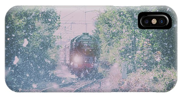 Railroad Station iPhone Case - Through The Blizzard by Martin Newman