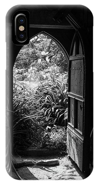 IPhone Case featuring the photograph Through The Door by Clare Bambers