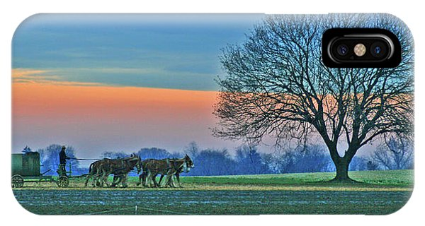 Amish iPhone Case - Through The Fields by Scott Mahon