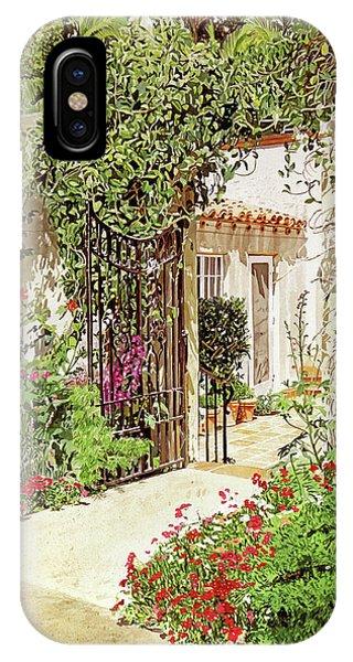 Through The Garden Gate IPhone Case
