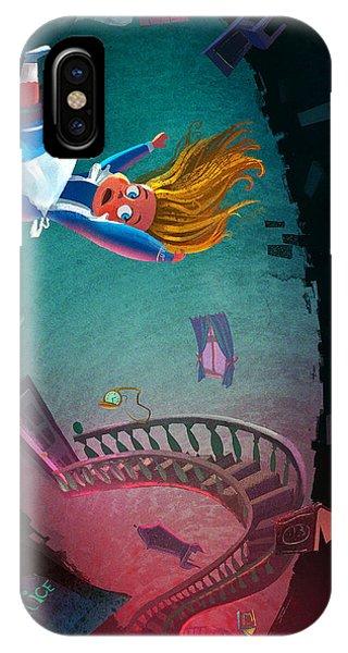 Fairy iPhone Case - Through The Rabbit Hole by Kristina Vardazaryan