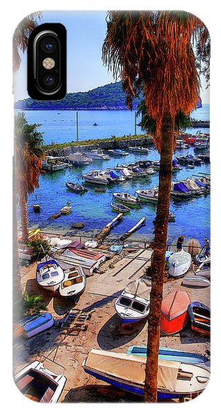 Through The Trees Dubrovnik Harbour IPhone Case