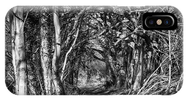 Through The Tunnel Bw 16x20 IPhone Case