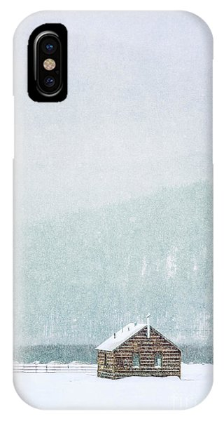 Rural America iPhone Case - Through Winter's Air by Evelina Kremsdorf