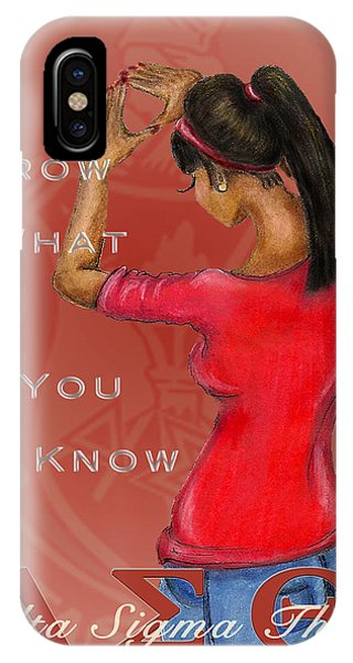 Dive iPhone Case - Throw What You Know Series - Delta Sigma Theta 2 by BFly Designs
