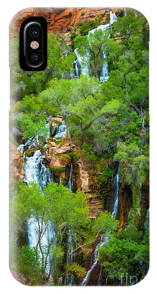 Grand Canyon iPhone Case - Thunder River Oasis by Inge Johnsson