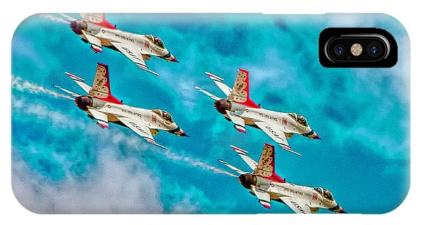 iPhone Case - Thunderbirds In Formation II by Bill Gallagher