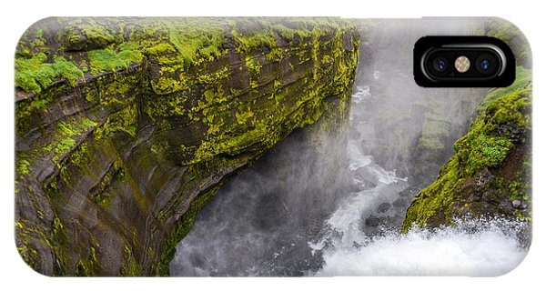 Thundering Icelandic Chasm On The Fimmvorduhals Trail IPhone Case