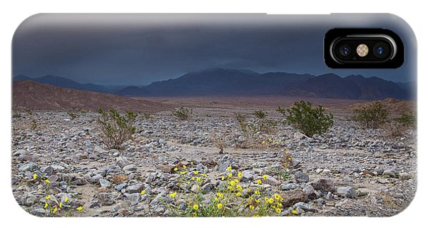 Thunderstorm Over Death Valley National Park IPhone Case