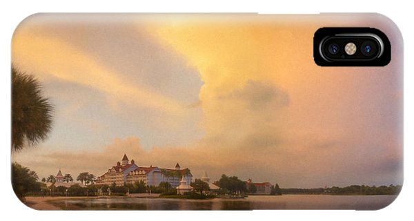 Thunderstorm Over Disney Grand Floridian Resort IPhone Case