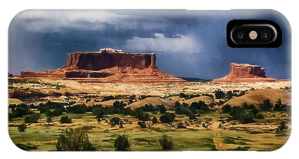 Thunderstorms Approach A Mesa IPhone Case