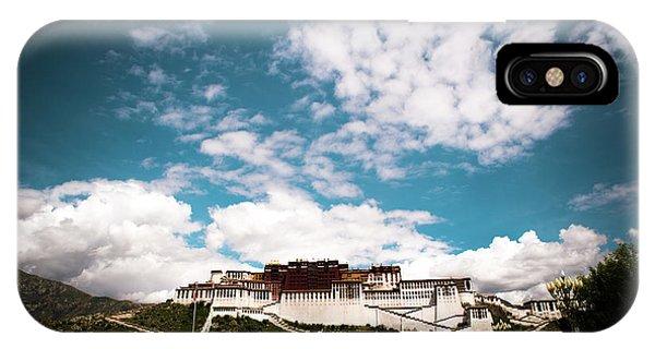 Kora iPhone Case - Tibet Potala Palace Dalai Lama Home Place. Kailash Yantra.lv 2016  by Raimond Klavins