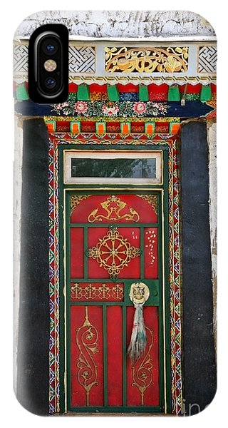 Tibet Red Door IPhone Case