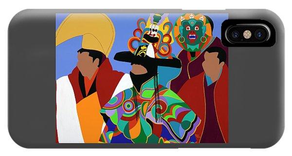 iPhone Case - Tibetan Monks Cham Dancer by Synthia SAINT JAMES