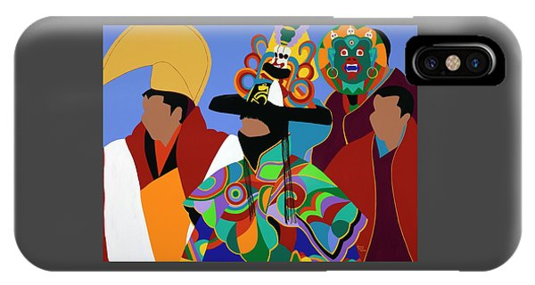 iPhone X Case - Tibetan Monks Cham Dancer by Synthia SAINT JAMES