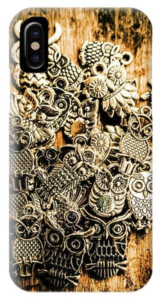 Cute Bird iPhone Case - Tibetan Owl Charms by Jorgo Photography - Wall Art Gallery