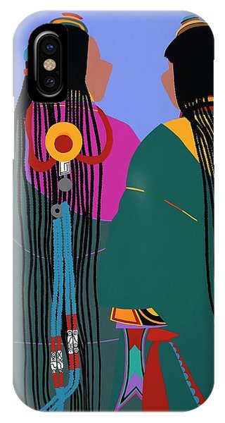 iPhone X Case - Tibetan Women by Synthia SAINT JAMES