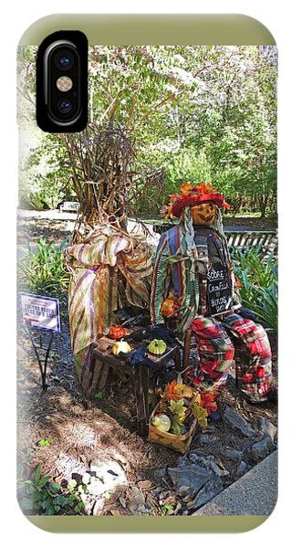 Tic-tac Crow Three In A Row Scarecrow 2 At Cheekwood Botanical Gardens IPhone Case