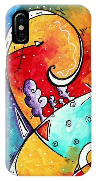 Colorful iPhone Case - Tickle My Fancy Original Whimsical Painting by Megan Duncanson