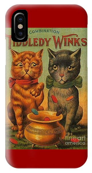 Tiddledy Winks Funny Victorian Cats IPhone Case