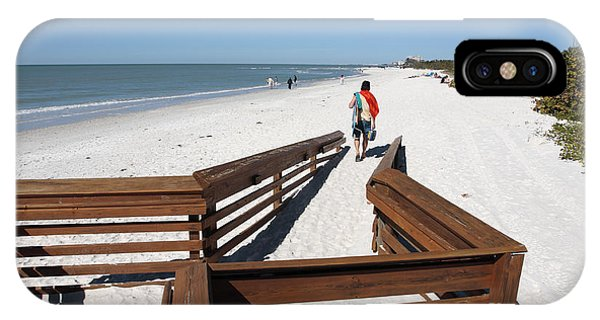 Tide Of Sand Over A Ramp On The Beach In Naples Florida IPhone Case