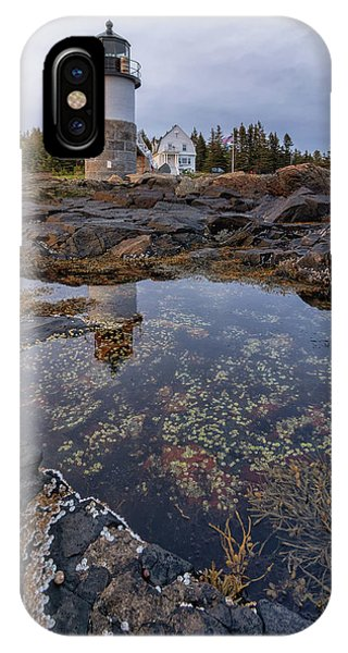 Tide Pools At Marshall Point Lighthouse IPhone Case